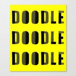 Doodle Doodle Doodle (#2) Canvas Print