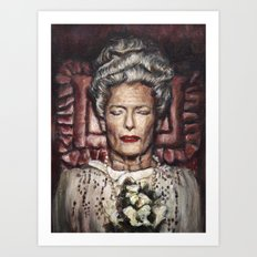 Tilda Swinton / Grand Budapest Hotel / Wes Anderson / Madame D. Art Print