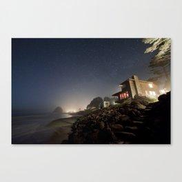 Starry Beach Canvas Print