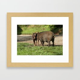 Face Off Framed Art Print
