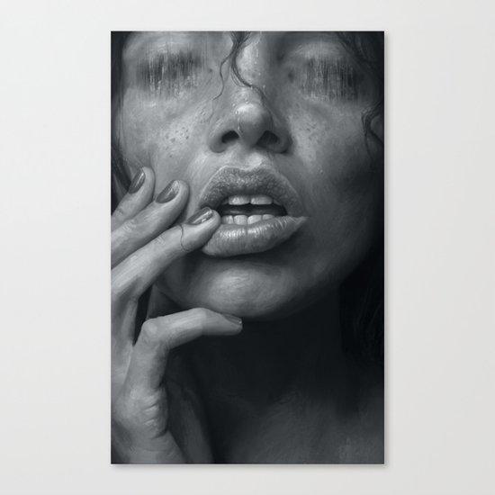 Eaten B&W Canvas Print