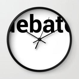 debate Wall Clock