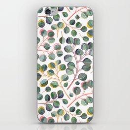 Simple Silver Dollar Eucalyptus Leaves iPhone Skin