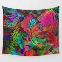 bohemian Wall Tapestries featuring  bohemian dream by Lara Gurney