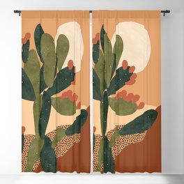 Prickly Pear Cactus Blackout Curtain