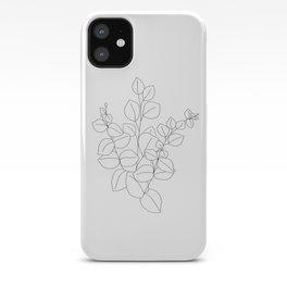 Minimalistic Eucalyptus  Line Art iPhone Case