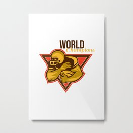 American Football Running Back World Champions Metal Print