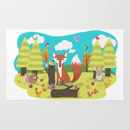 Forest Friends Fall Frolic Rug