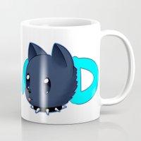 dmmd Mugs featuring DMMD- chibi Aoba and Ren by prpldragon