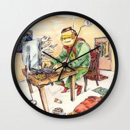 Hero and his Superdog Wall Clock
