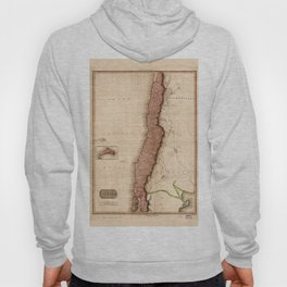 Map of Chile (1818) Hoody
