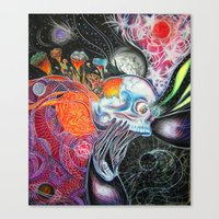 space jam Canvas Prints featuring space jam by Bribo