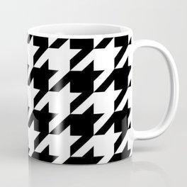retro fashion classic modern pattern black and white houndstooth Coffee Mug