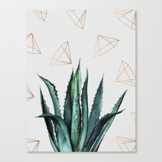 Agave Geometry #society6 #decor #buyart Canvas Print