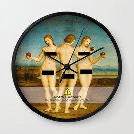 Three Graces censored Wall Clock