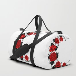 Moon of Red Roses Duffle Bag