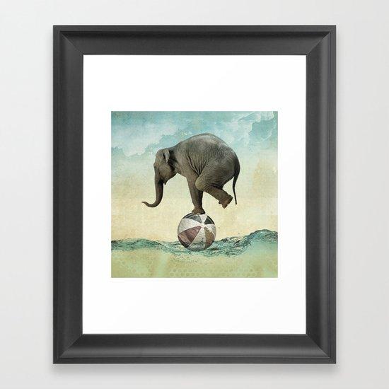 Elephant at Sea Framed Art Print