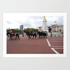 The Guards with their Horses 19 Art Print