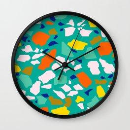 Terazzo Pattern in Pool Wall Clock