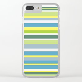 Beach Style Stripes Clear iPhone Case