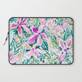 PLUMERIA PARADISE Tropical Floral Laptop Sleeve