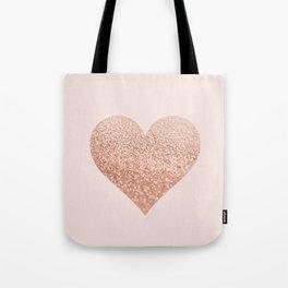 ROSEGOLD HEART BLUSH Tote Bag