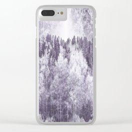 Captivating landscape - beautiful forest in winter colors Clear iPhone Case