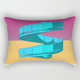 Cyan Stair 06 Rectangular Pillow
