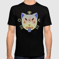 Mystic Cat Black MEDIUM Mens Fitted Tee