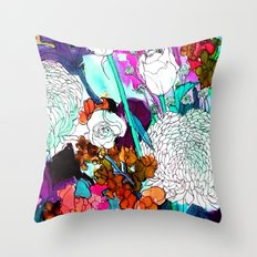forest flowers 3 Throw Pillow