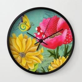 Wondrous Garden Wall Clock