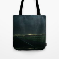 Driving Rain Tote Bag