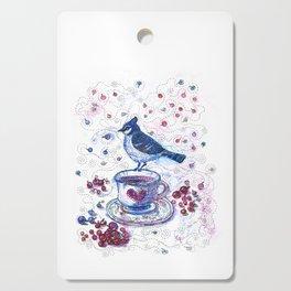 Winter Tea (Ble Jay) Cutting Board