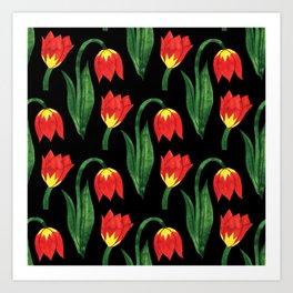 Botanic Watercolor Collection #1 Art Print