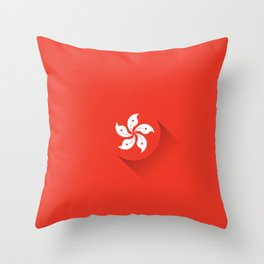 Minimal Hong Kong Flag Throw Pillow