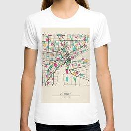 Colorful City Maps: Detroit, Michigan T-shirt