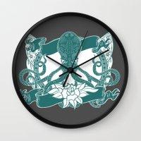 kraken Wall Clocks featuring KRAKEN by Norm Morales Originals