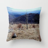tennessee Throw Pillows featuring Tennessee Landscape by Raffaella315
