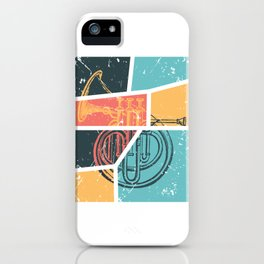 French Horn Retro Funny print French Horn Player Gift iPhone Case