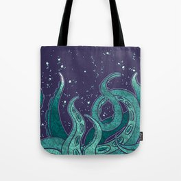 Giant Tentacle Blue Redux Tote Bag