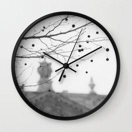 Plane Tree Fruits Wall Clock
