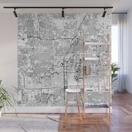 Las Vegas White Map Wall Mural