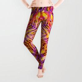 Funkydelic - Purple Yellow Red Geometric Leggings