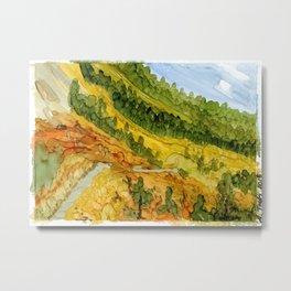 Autumn Mountain Path Metal Print