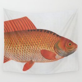 Vintage Illustration of a Goldfish (1785) Wall Tapestry