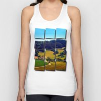 hiking Tank Tops featuring Hiking through springtime scenery by Patrick Jobst