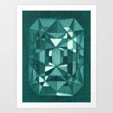 Emerald - Aquatint gemstone Art Print