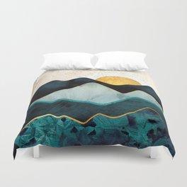 Glacial Hills Duvet Cover