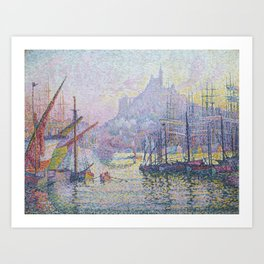 View of the Port of Marseilles Art Print