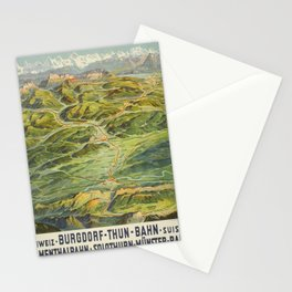 Werbeposter burgdorf thun bahn emmenthal Stationery Cards